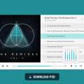 Free Music Player PSD