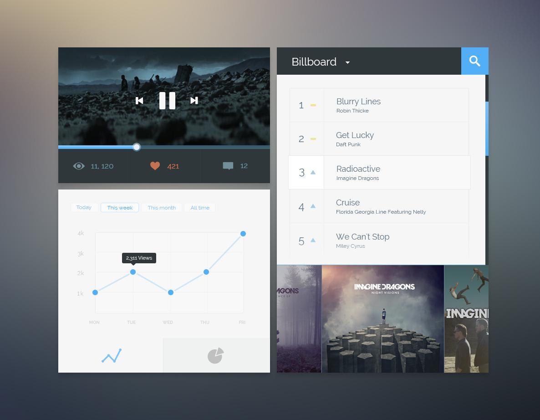 Free Music User interface PSD