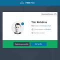 Free User Center UI Design PSD