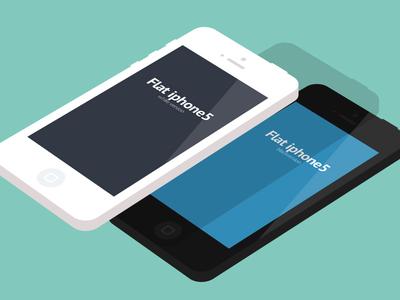 Free smartphone PSD-Flat iphone 5