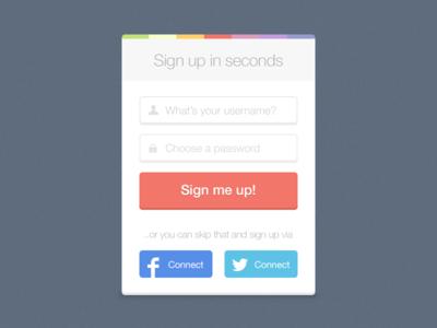 Freebie-Clean Sign up Design PSD