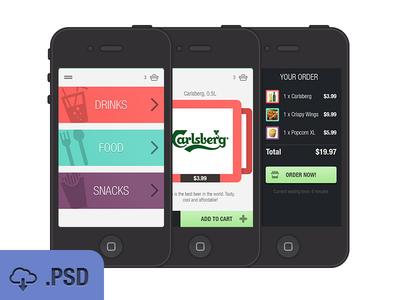 Freebie-Ios Iphone App Interface Design PSD
