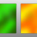 Green and Orange Blurred Background