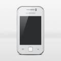 Samsung Galaxy Y-Free phone mock-up psd