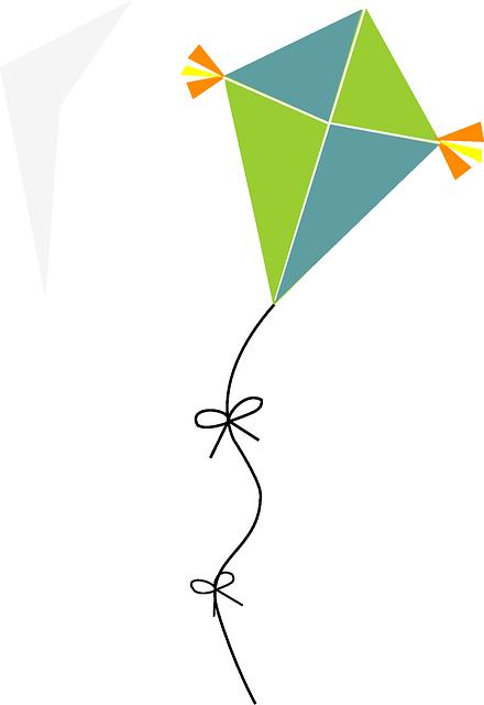 Simple kite vector