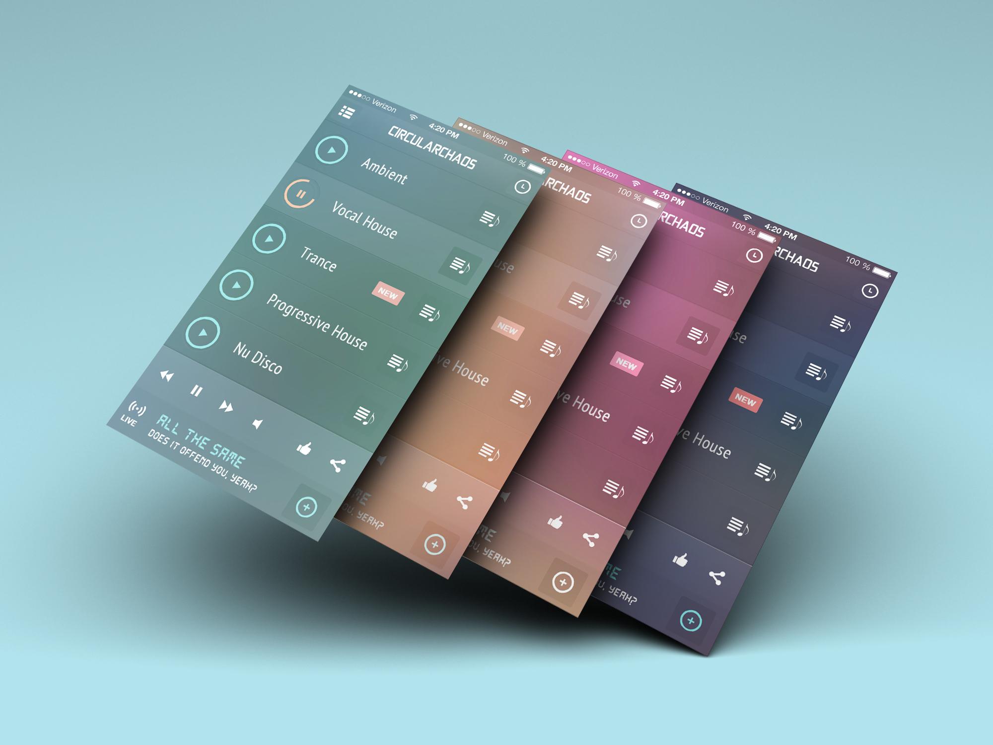 Vertical screens Layers psd- iOS 7 Iphone Screen Converter
