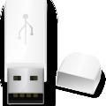 White usb icon vector
