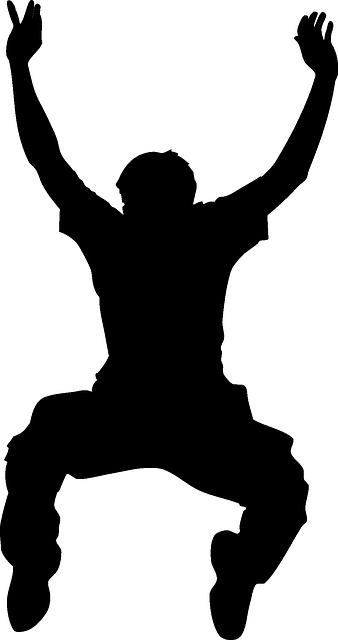 Dance silhouette- boy outline vector