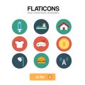 house gamepad money T-shirt shower head-Free Flat Icons Vector