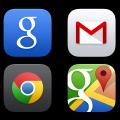 iOS 7 app icons-google gmail map chrome icons psd