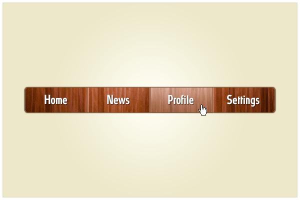 20 Wooden Website Header Menu PSD