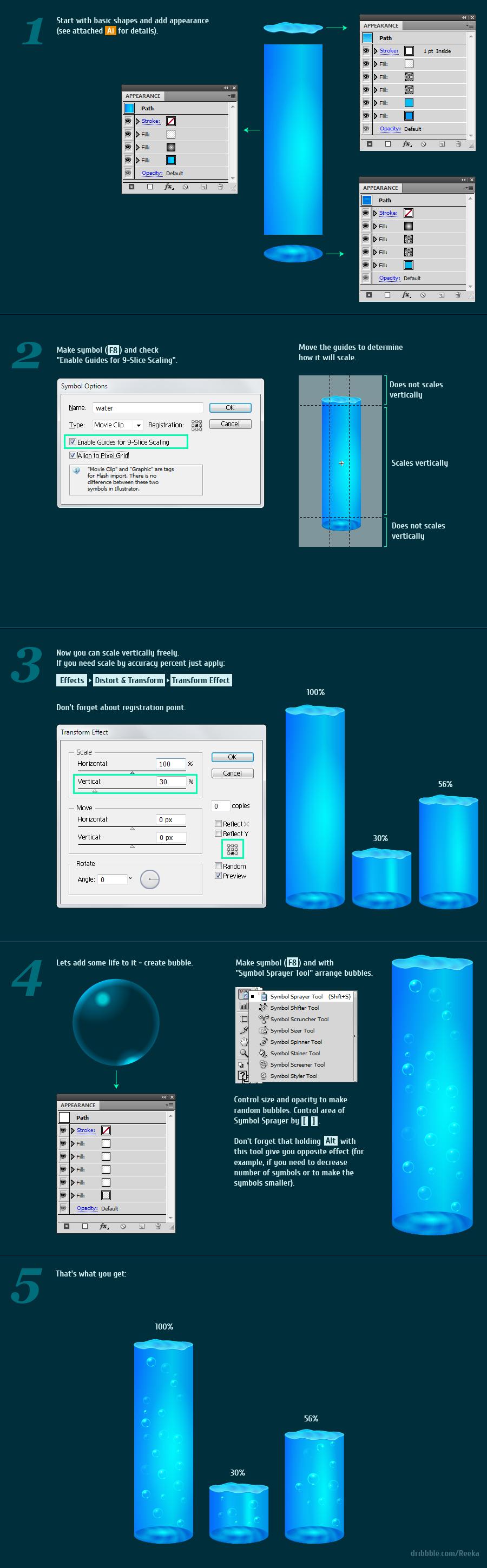 Blue Water bar tutorial histogram vector