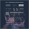 Flat Transparent UI Kit PSD
