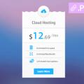 Free Hosting Price Table PSD