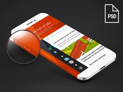 Free Iphone 6 Template-Wrap Around Screen
