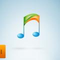 Free Music player icon logo Vector