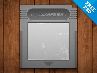 Free Nintendo Gameboy Cartridge PSD