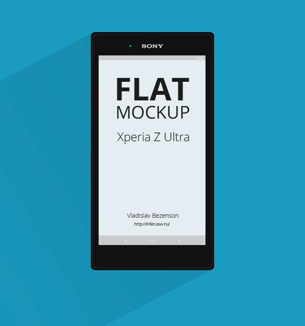 Free Vector Sony Xperia Z Ultra Mockup