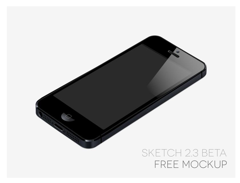 Free iPhone 5 Mockup Sketch App
