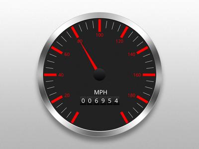 Freebie- Vehicle Speedometer Vector (AI)