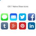 Freebie-iOS 7 Social Icons PSD
