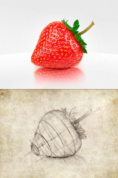 Fresh Fruit-Free Strawberry PSD