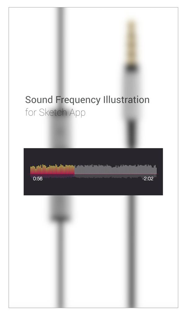 Sound Frequency illustration/UI Element For Sketch APP