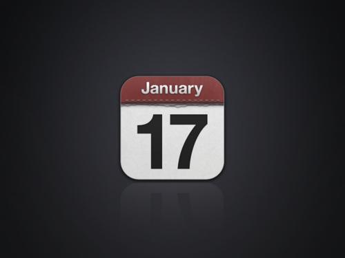 iOS Calendar App Icon PSD