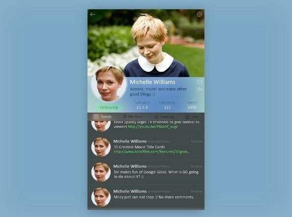 iOS Twitter Profile Widget PSD
