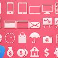 49 Flat Icon Set PSD