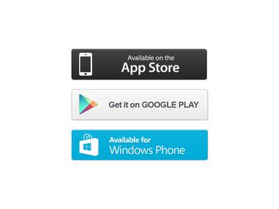 App Store Buttons PSD