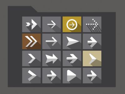 Arrows icon Set PSD