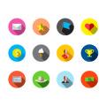 Flat Reward Icons(Vector Ai Illustrator)