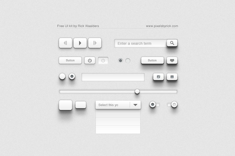 Flat UI Kit GUI Elements PSD