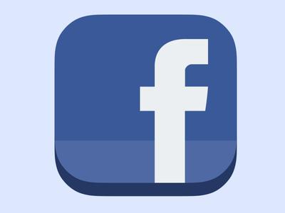 Flat iOS 7 Facebook Icon