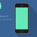Flat iPhone 5S Mockup Template