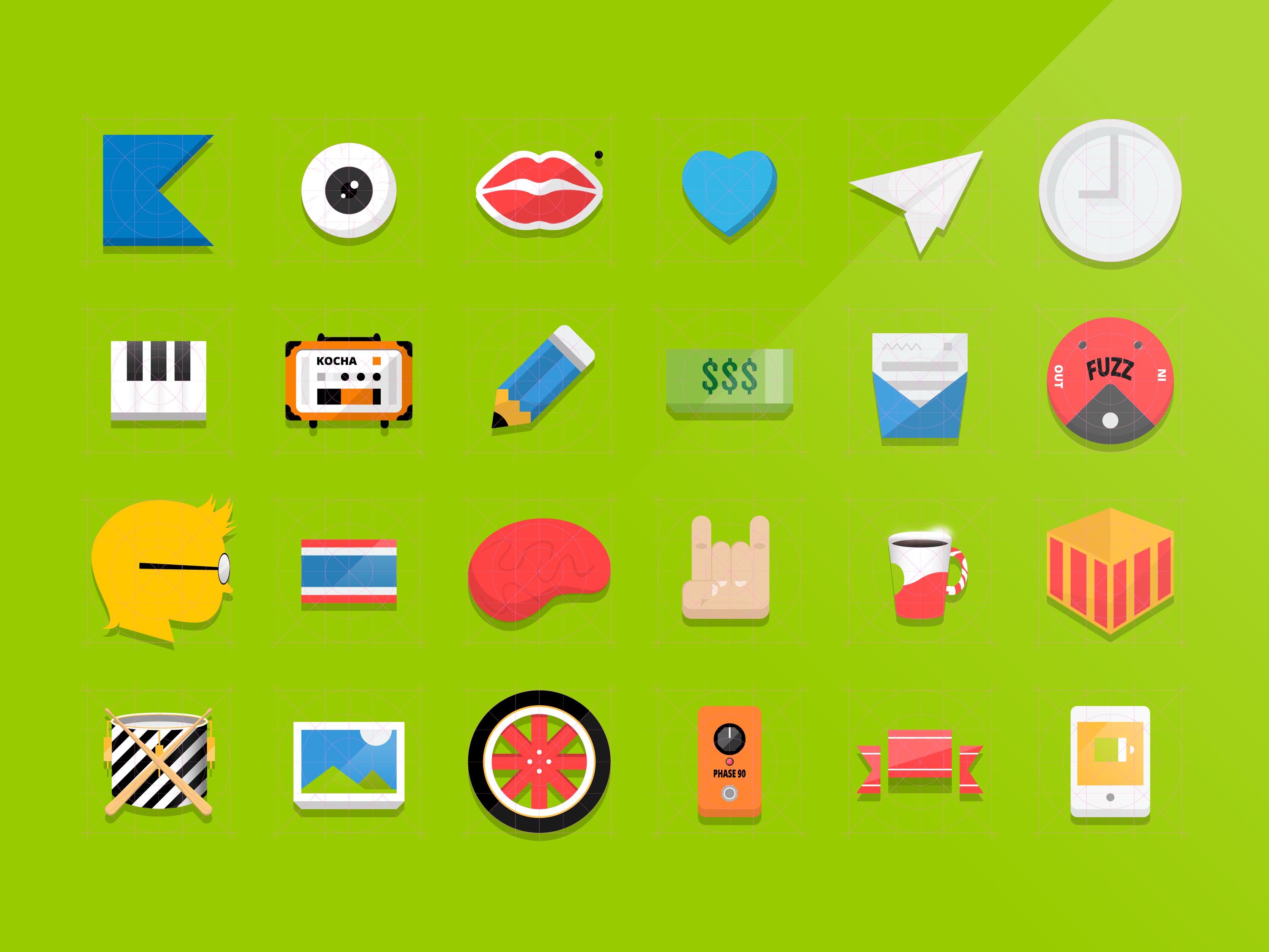 Flat icons Vector (illustrator ai file) – Free PSD,Vector ...