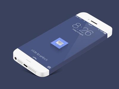 Flat ios iphone infinity template