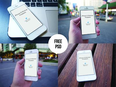 Free iPhone Mockups Template PSD