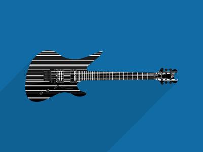 Metal Guitar Vector