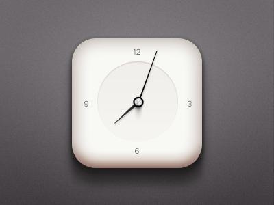 PSD Clock Icon With Needles