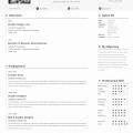 PSD-Single Page Resume Template