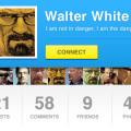 PSD- User Profile UI Design