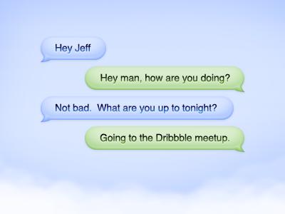 Photoshop Cloud Chat Bubbles PSD