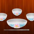 Plates Bowl Chopsticks Tableware PSD