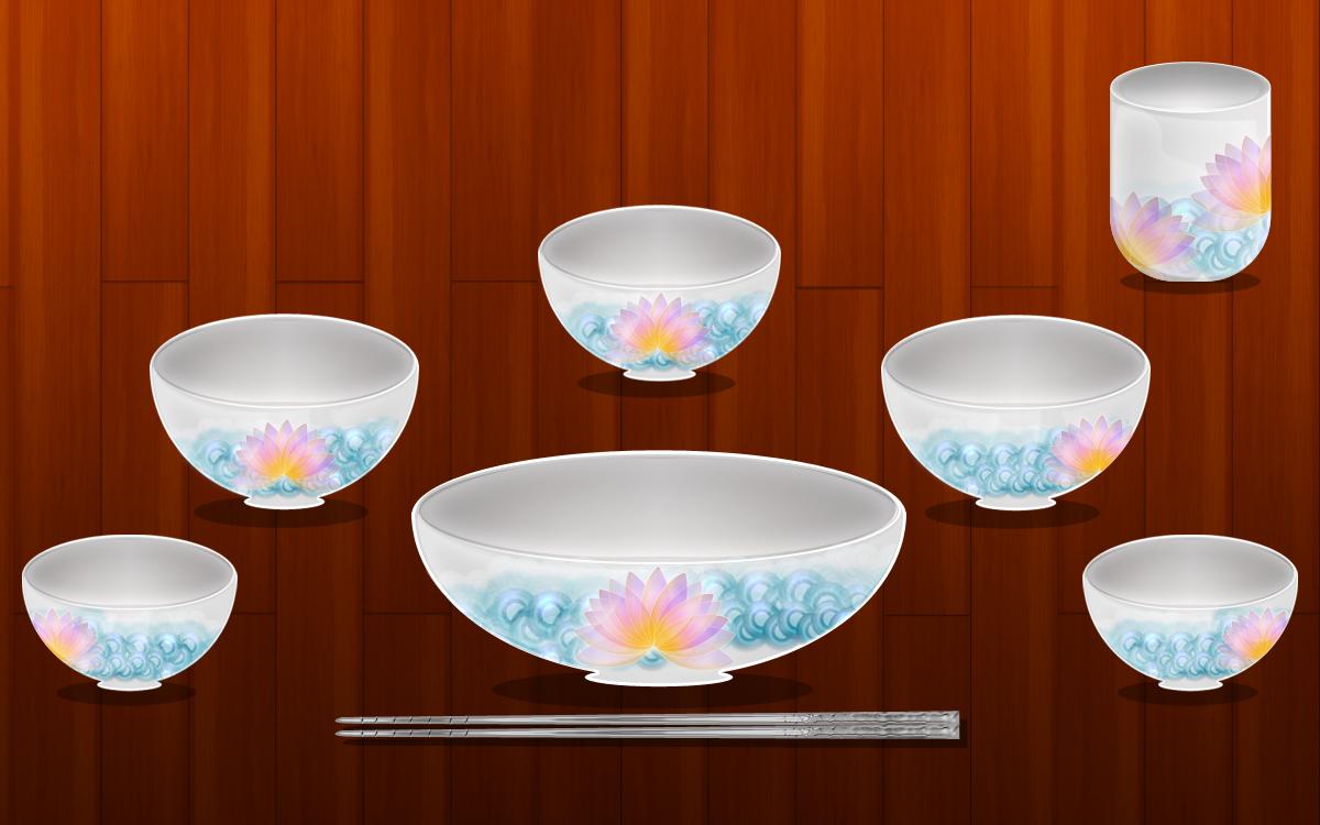 Bowl / Chopsticks / Tableware PSD