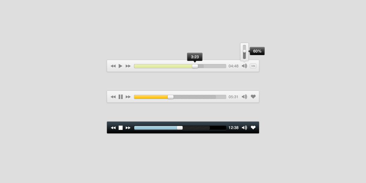 Simple Music Player PSD