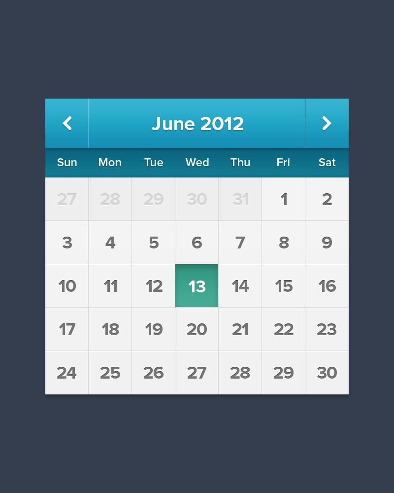 Calendar Ui Design Psd : Ipad iphone calendar ui psd free vector icons