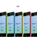 iPhone 5C Mockup Template Vector PSD