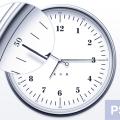 Elegant Watch Clock Icon PSD